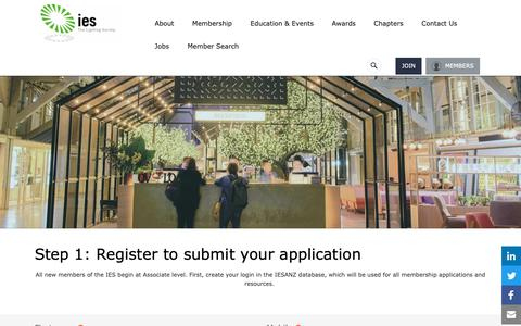 Screenshot of Signup Page iesanz.org - Register to Login & Submit Membership - captured Dec. 13, 2018