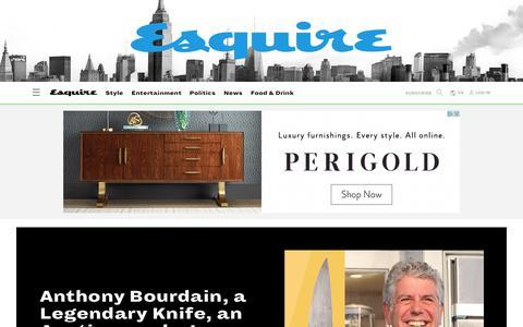Screenshot of Home Page esquire.com - Esquire - Men's Fashion, Cocktails, Politics, Interviews, and Women - captured Oct. 30, 2019