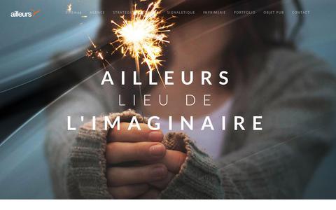 Screenshot of Home Page agence-ailleurs.fr - Agence de publicité à Grenoble, communiquez avec Ailleurs - captured July 11, 2018