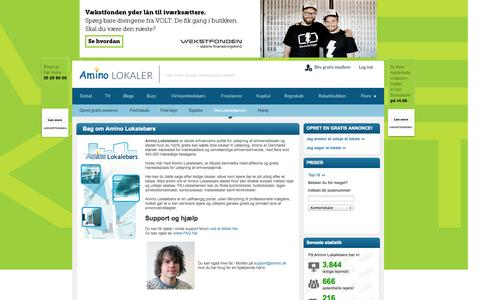 Screenshot of About Page amino.dk - Amino Lokalebørs - captured Sept. 18, 2014