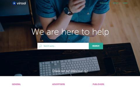 Screenshot of FAQ Page virool.com - Virool - Video Seeding, YouTube Views, Social Video Advertising, Video Promotion - captured Oct. 28, 2014