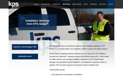 Screenshot of Services Page kpsglobal.com - Services | Installations | KPS Global® - captured Feb. 12, 2018