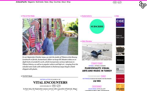 Screenshot of Home Page artasiapacific.com - ArtAsiaPacific: Home - captured Sept. 25, 2014