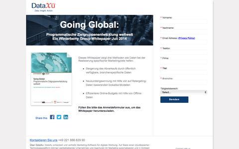 Screenshot of Landing Page dataxu.com - Winterberry Going Global: Programmatische Zielgruppenentwicklung weltweit - captured April 25, 2016