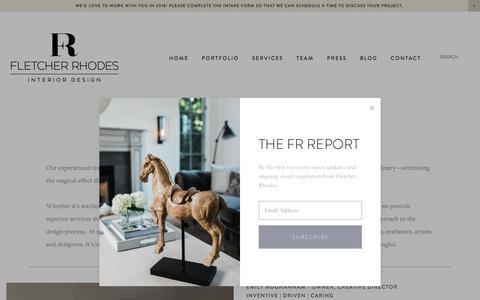 Screenshot of Team Page fletcherrhodes.com - Team — Fletcher Rhodes Interior Design - captured Jan. 10, 2018