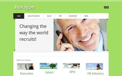 Screenshot of Home Page hexagonsearch.com - Hexagon - Hexagon - captured Oct. 2, 2014