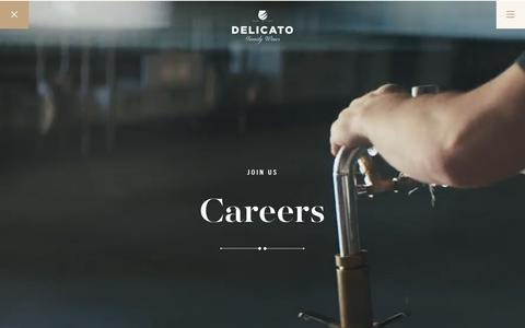 Screenshot of Jobs Page delicato.com - Careers - Delicato - captured Oct. 13, 2019