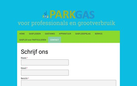 Screenshot of Contact Page parkgas.nl - CONTACT - De website van ParkGas! - captured May 14, 2017