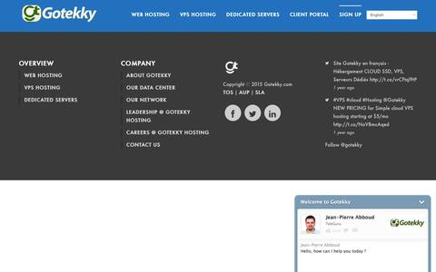 Screenshot of Signup Page gotekky.com - WHMCS-bridge - captured Feb. 16, 2016