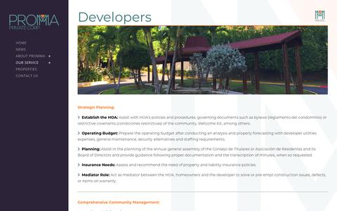 Screenshot of Developers Page prommapr.com - Promma |   Developers - captured Sept. 25, 2018