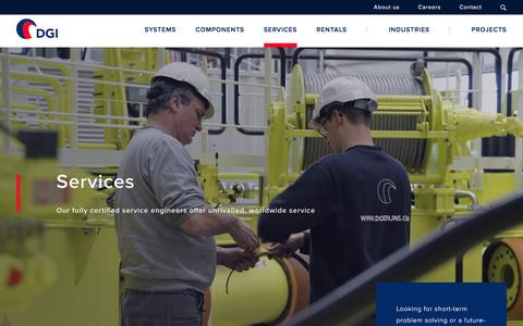 Screenshot of Services Page dgi-company.com - Worldwide services - DGI - captured June 4, 2017