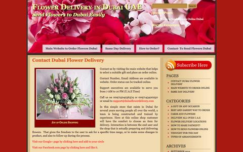 Screenshot of Blog dubaiflowerdelivery.com - Contact Dubai Flower Delivery to Send Flowers on Same Day - captured Sept. 30, 2014