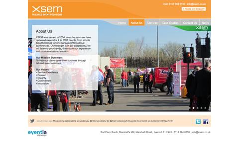 Screenshot of About Page xsem.co.uk - About Us «  XSEM - captured Oct. 1, 2014
