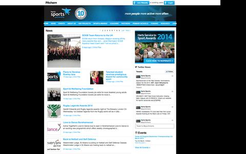 Screenshot of Press Page sportinherts.org.uk - Herts Sports Partnership - News - captured Oct. 3, 2014