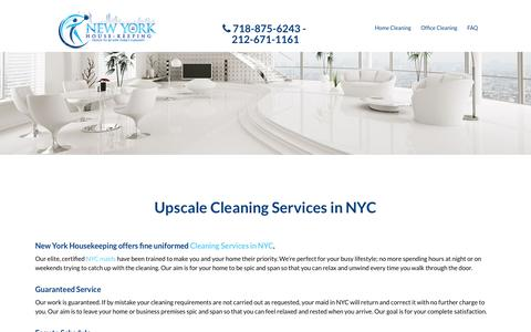 Screenshot of About Page nyhousekeeping.com - NY Housekeeping - captured Nov. 1, 2017