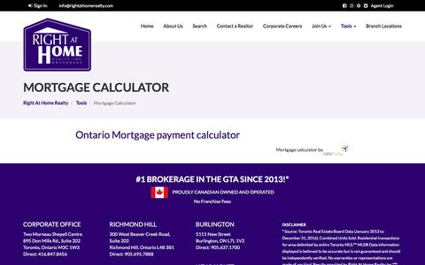 Mortgage Calculator - Right At Home Realty - Right At Home Realty | Toronto's Largest Independent Brokerage