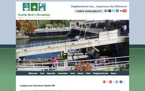 Screenshot of Contact Page Maps & Directions Page lodginginseattle.com - Bed and Breakfast Lodging near SeaTac & Downtown Seattle WA - captured June 16, 2016