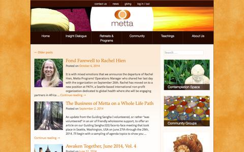 Screenshot of Press Page metta.org - Metta Programs - Insight Dialogue - captured Oct. 27, 2014