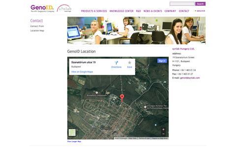 Screenshot of Maps & Directions Page genoid.net - Map / Location - GenoID - captured Oct. 2, 2014