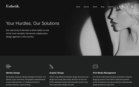 Screenshot of Services Page esthetik.com.au - Our Services - Esthetik - captured July 14, 2016