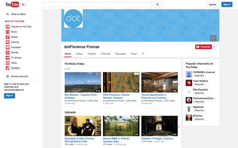 Screenshot of YouTube Page youtube.com - dotFlorence Firenze  - YouTube - captured Oct. 29, 2014