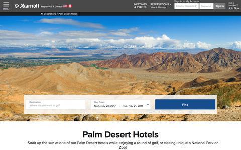 Top Hotels Near Palm Desert | Marriott Palm Desert Hotels