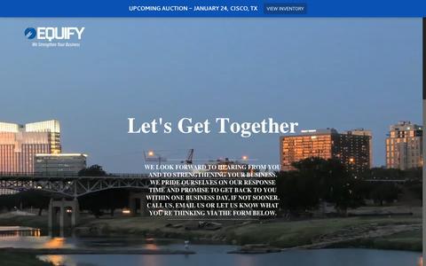 Screenshot of Contact Page equifyllc.com - Contact Us | Equify - captured Jan. 2, 2017