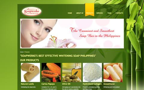 Screenshot of Products Page soapwerkeinc.com - Best Effective Whitening Soap Philippines - Soapwerke Inc. - captured March 17, 2016