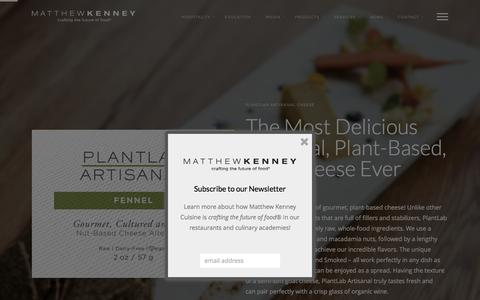 Screenshot of Products Page matthewkenneycuisine.com - PlantLab Artisanal Cheese - Matthew Kenney Cuisine - captured Dec. 20, 2015