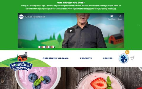 Screenshot of Products Page stonyfield.com - Our Products - Stonyfield - captured Nov. 1, 2018