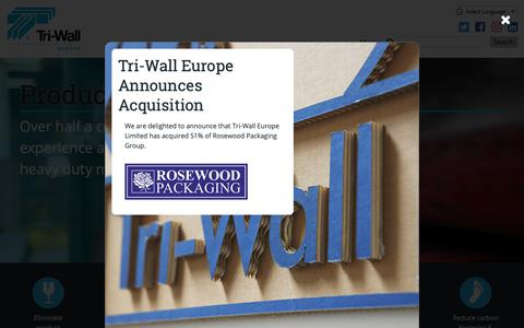 Screenshot of Home Page tri-wall.eu - Home | Tri-Wall Europe - Specialising in Corrugated Packaging - captured Oct. 20, 2018