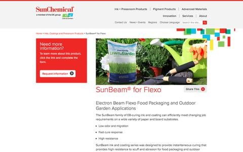 Ink | SunBeam for Flexo | Sun Chemical
