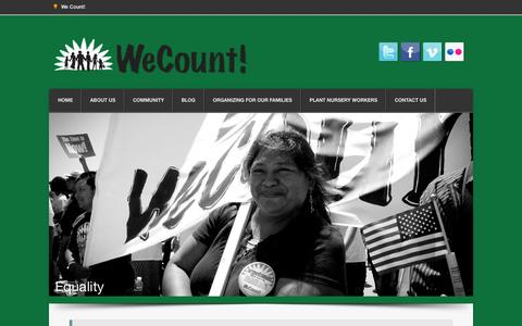 Screenshot of Home Page we-count.org - We Count! Home - captured Sept. 30, 2014