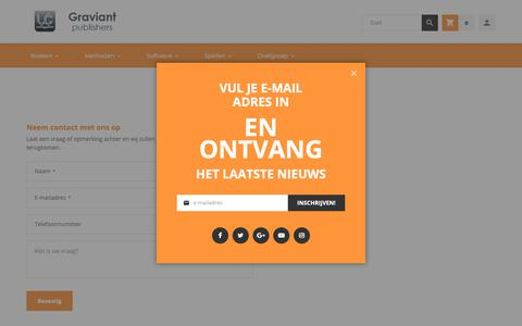 Screenshot of Contact Page graviant.nl - Contact Us - captured Sept. 30, 2018