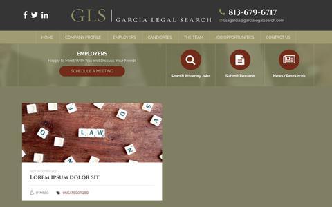 Screenshot of Blog garcialegalsearch.com - Blog - Garcia Legal Search - captured Sept. 27, 2018
