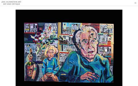 Screenshot of Home Page joelsilversteinart.com - Joel Silverstein Art  Art and Critique - Home - captured Nov. 22, 2018