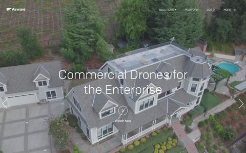 Screenshot of Home Page airware.com - Airware | The Operating System for Commercial Drones - captured June 8, 2016