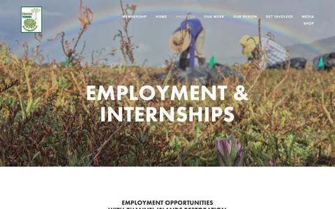 Screenshot of Jobs Page cirweb.org - Employment & Internships — Channel Islands Restoration - captured Oct. 24, 2018