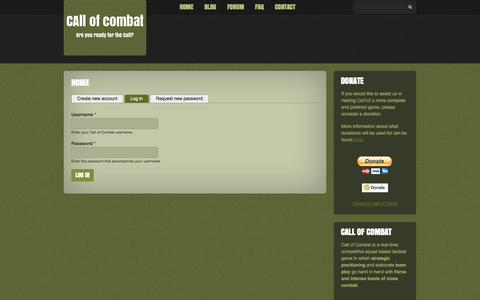Screenshot of Login Page kava-gaming.com - Home | Call of Combat - captured Sept. 30, 2014