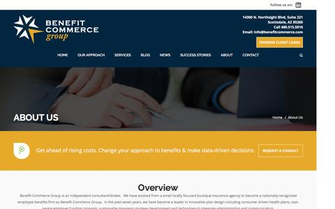 Screenshot of About Page benefitcommerce.com - About Us – Benefit Commerce Group - captured Feb. 15, 2017