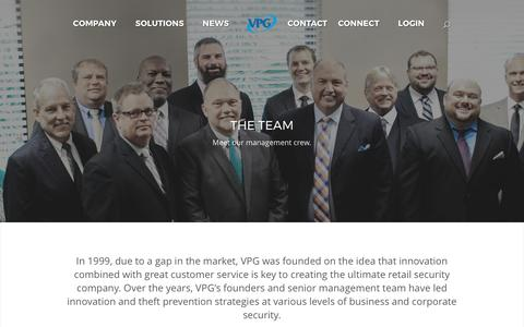 Screenshot of Team Page vanguardprotexglobal.com - Management Team: The VPG Crew Protecting Your Store - captured May 10, 2017