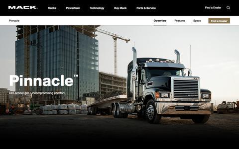 Pinnacle Series Semi Truck Models | Mack Trucks