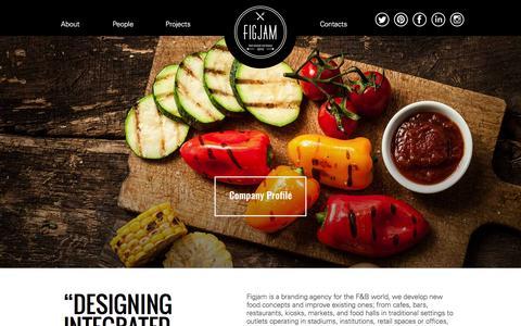 Screenshot of Home Page figjamco.com - Figjam - Food Concept and Design Agency | Dubai UAE - captured Feb. 10, 2016
