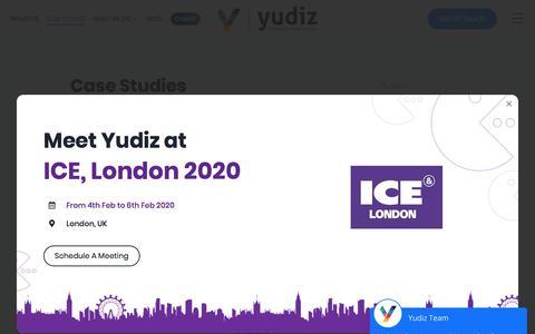 Screenshot of Case Studies Page yudiz.com - Case Studies   Yudiz Solutions Pvt. Ltd. - captured Jan. 22, 2020