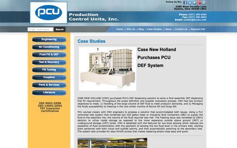 Screenshot of Case Studies Page pcuinc.com - Case Studies   Production Control Units, Inc. - captured Oct. 3, 2014