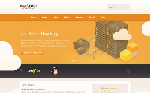 Screenshot of Home Page nostresscommerce.cz - NoStress Commerce - specialista na Magento - captured Sept. 30, 2014