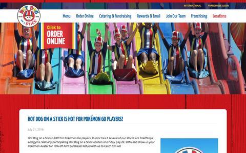 Screenshot of Press Page hotdogonastick.com - News | Hot Dog on a Stick - captured Oct. 17, 2016