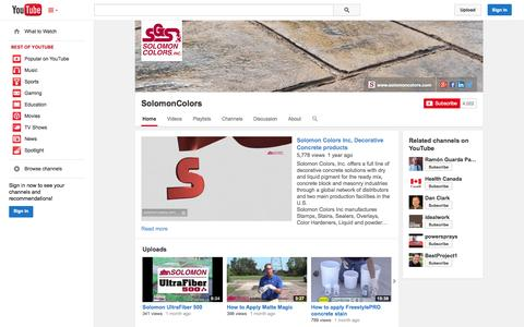 Screenshot of YouTube Page youtube.com - SolomonColors  - YouTube - captured Oct. 26, 2014