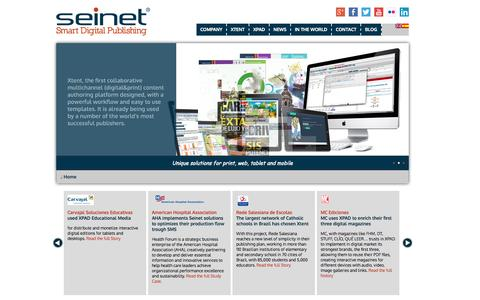 Screenshot of Home Page seinet.es - Seinet :: Experts in developing efficient cross-media solutions. - captured Oct. 7, 2014