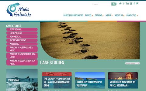 Screenshot of Case Studies Page medicfootprints.org - Case Studies Archives - Medic Footprints - captured Aug. 10, 2016
